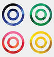 Target icon abstract triangle vector