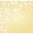Light stars on golden background vector
