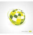 Background with green globe icon vector