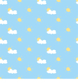Seamless summer background with sun cloud sky vector