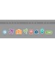 Travel flat icons set elements vector