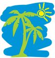 Tropical holiday graphic vector