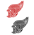Griffin symbol in celtic style vector
