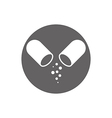 Open medical capsule icon isolated vector