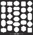 Blank frame and label big set vector