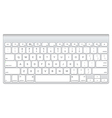 Short aluminum computer keyboard vector