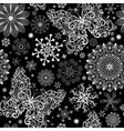 Christmas black lacy seamless pattern vector