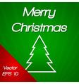 Merry christmas tree vector