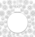 Christmas paper composition unusual greeting card vector