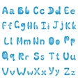 Alphabet blue vector
