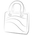 Simple handbags on white background contour vector