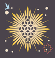 Space variety of seed forms print vector