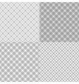 Four mesh seamless patterns with dashed lines vector