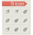 Black file sport balls icon set vector