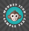 Cute monkey icon in flat design style logo or vector