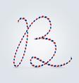 Striped font b vector