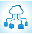 Cloud computing concept stock vector