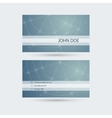 Modern business card template with sparkling lines vector