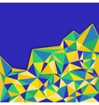Abstract geometric background in blue yellow and vector