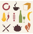 Food icon set vector