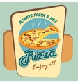 Pizza round advertising poster vector