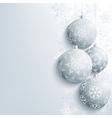 New year and christmas card with christmas ball vector