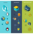 Garbage isometric banners vector