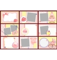 Cute templates for baby photo frames vector