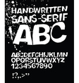 Handwritten abc on black vector
