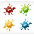 Colored blots vector