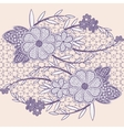 Wide seamless lace ribbon with flowers vector