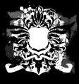 Heraldry grunge shield vector
