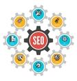 Seo internet technology concept infographic design vector