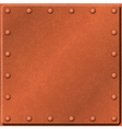 Metal plate background vector