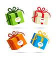 Present box gift box set vector