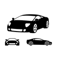 Luxury car silhouettes vector