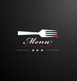 Cover restaurant menu vector