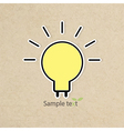 Light bulb idea of grunge background paper vector