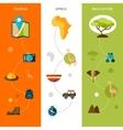Safari vertical banners vector