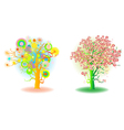 Two seasons trees vector
