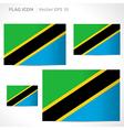 Tanzania flag template vector