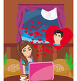 Love in web vector
