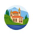 Sea villa real estate company logo concept vector