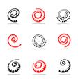 Spiral design elements vector