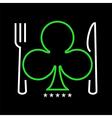 Casino restaurant logo vector