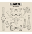 Hand drawn hipster style accessory set vector
