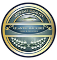 Atlantic mackerel label vector