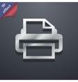 Print icon symbol 3d style trendy modern design vector