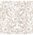 Floral contour pattern lily and mine vector