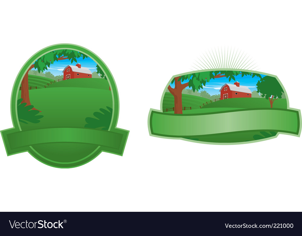 Barn landscape vector | Price: 1 Credit (USD $1)